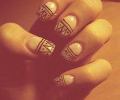 Love tribal nails!
