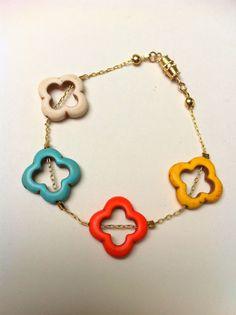 OKC Thunder Quatrefoil Bracelet by SHUNTLA on Etsy, cute way to show your spirit.