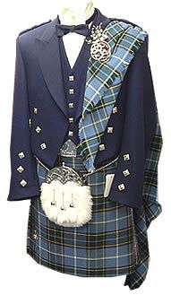 National tartan..I would wear this outfit! With some kick ass shoes...colored knit hose...