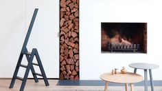 fireplace-stacked-logs-tables ladder feb14