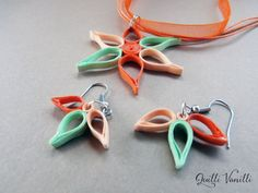 Paper Quilled Necklace Charity Proceeds To by quillivanilli