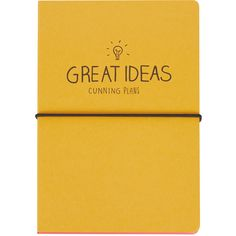 TOPSHOP Great Ideas Notebook (68 MYR) ❤ liked on Polyvore featuring home, home decor, stationery, fillers, books, notebooks, accessories, other and multi