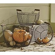 wire baskets-storage for my new bedroom armoire/storage