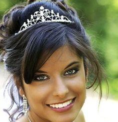 wedding updos with tiara