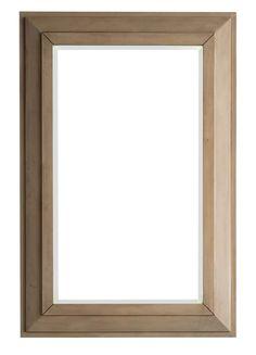 "Portland 28"" Rectangular Mirror, Whitewashed Walnut"