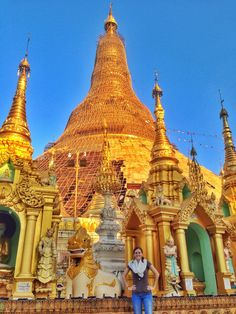 Visiting the beautiful Shwedagon Pagoda was the highlight of my time in Myanmar!