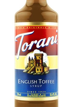 Torani English Toffee Syrup is the perfect addition to lattes, iced coffees, and milkshakes.