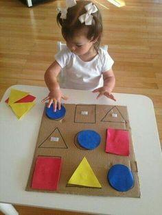 home activities for kids crafts Preschool Learning Activities, Infant Activities, Kids Learning, Activities For Kids, Young Toddler Activities, Learning Shapes, Montessori Toddler, Kids Crafts, Toddler Crafts