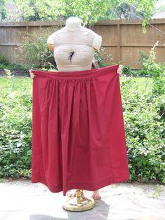 Easy Pioneer Trek Skirt from full bed sheet.