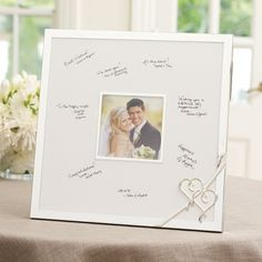 DAR WHAT DO YOU AND MOM THINK OF THIS Lenox True Love Wedding Guest Book Frame | Wedding Guest Book Frame