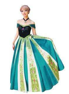 stunning custom made princess anna coronation gown for cosplay halloween fun and birthday parties - Halloween Anna Costume