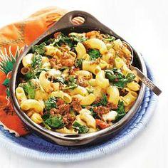 Recept - Ovenpasta met kaas en spinazie