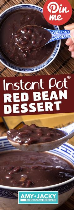 Super Easy Shortcut to make Delicious Creamy Instant Pot Red Bean Soup 紅豆沙 紅豆湯 Simple healthboosting pressure cooker dessert No soaking Instant Pot Chinese Recipes, Easy Chinese Recipes, Simple Recipes, Dessert Dishes, Dessert Recipes, Red Bean Dessert, Pressure Cooker Desserts, Pressure Cooking, Red Beans Recipe
