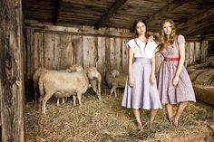 Links: Bluse Traudl, Rock Mitzi Rechts: Kleid Uschi  #trachtimalltag #rock #kleid #dirndlkleid #juliatrentini