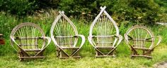 Enjoy the fruits of your labours from the comfort of our Bent Stick Chairs. We make them to order. Visit the 'Rustic Furniture' page for details