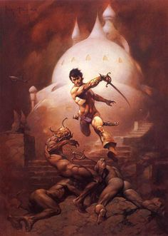 More Frazetta. This is his version of John Carter of Mars, one of my favorite book series growing up. I still collect any books I see that have a Frazetta cover.