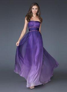 2011 Style Empire Strapless Sleeveless Floor-length Chiffon  Bridesmaid / Evening Dresses / Prom Dresses