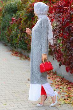 Amelia Hijab Maxi Shirt Dress
