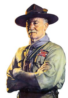 Lord Robert Baden-Powell, the founder of Scouts.