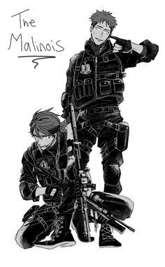Anime army twins