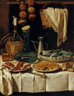 Carlo Magini Still Life with Wickered Bottle  Late 18th - early 19th century
