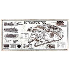 Millennium Falcon Embossed Tin Sign