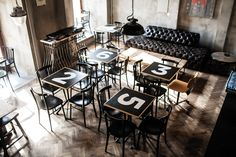 On the Grid : Cafe Mitte Exterior Design, Interior And Exterior, Central And Eastern Europe, Cool Cafe, Branding, Table, Inspiration, Furniture, Coffee Shops
