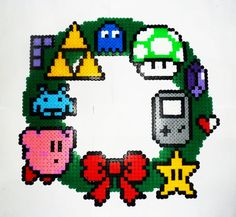 CHRISTMAS Gamer wreath - easily stitched
