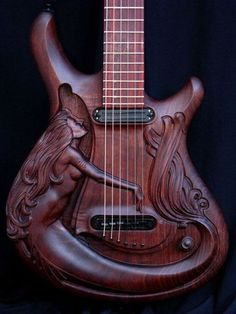 Mermaid Engraved Guitar...WANT WANT WANT!!! <3