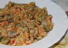 Las Recetas de Maria : ARROZ CON HABAS Sin Gluten, Gluten Free, Healthy Smoothies, Risotto, Grains, Cooking Recipes, Rice, Yummy Food, Pasta
