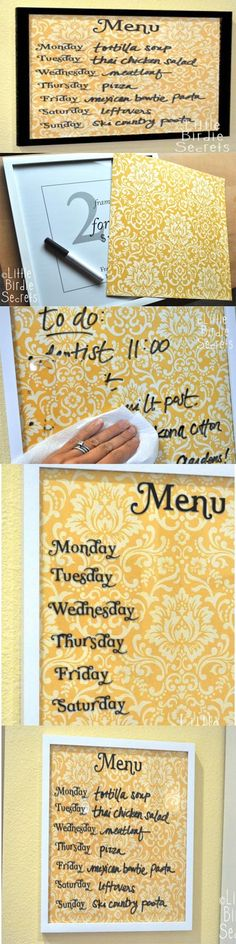 Wipe Off Weekly Menu Board Weekly Menu Boards, Chalkboard Stickers, Making Ten, Bobe, Meal Planner, Grocery Store