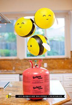 DIY Bumble Bee Balloons