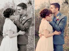 Vintage Inspired Wedding Couple