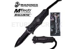 U.S. Marines by MTech USA USA M-A1037BKCS SPRING ASSISTED KNIFE