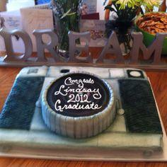 Graduation camera cake