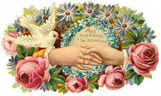 Victorian scrap with hands