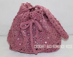 CROCHET BAG ROMANTIC rosé