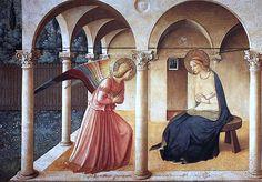 sassi d'arte: Beato Angelico, Annunciazione --- https://ilsassonellostagno.wordpress.com/2016/03/23/beato-angelico-annunciazione-sassi-darte/