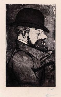 Portrait of Toulouse-Lautrec, by Charles Maurin.  Born: 24 November 1864; Albi, Tarn, France  Died: 09 September 1901; Château Malromé, France