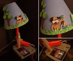 home made nintendo lamp