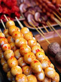 Look no further than the nearest street-food stall for this treat. Yellow fish balls are made from a mixture of fish and flour pounded into a paste, rolled into a ball, then boiled in a spicy curry sauce until it reaches golden perfection; this snack is an excellent energy booster for travelers on the go. Fish balls are typically served on a bamboo skewer in sets of five to eight, which makes them easily shareable—though you'll probably want to keep them all to yourself.