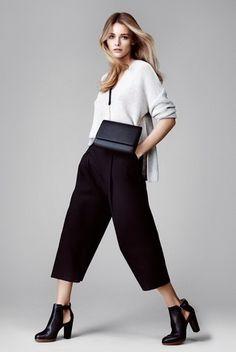 Женские брюки-кюлоты-2017: фото модных образов, с чем носить штаны-кюлоты