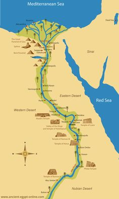 Ancient Egypt Map: Ancient Egyptian Cities That Still Alive Ancient Egyptian Cities, Ancient Egypt Fashion, Ancient Egypt History, Egyptian Art, Egyptian Mythology, Nile River Ancient Egypt, Ancient Aliens, Ancient Artifacts, Ancient Greece