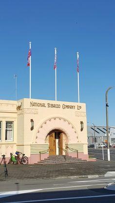 Art deco style building in Napier harbour area.