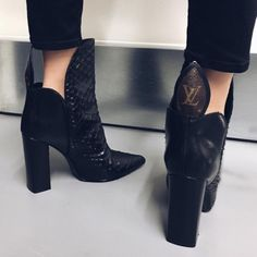 milla ( no We Heart It Heeled Boots, Bootie Boots, Shoe Boots, Shoes Heels, Lv Boots, Cute Shoes, Me Too Shoes, 00s Mode, Louis Vuitton Boots