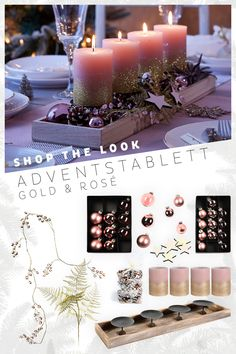 This Advent decoration is a Dekotraum in pink and can be easily decorated. This Advent decoration is a Dekotraum in pink and can be easily decorated. Simply place the pink ca advent decorated decoration dekotraum dinnerswinter easily Pink winterbonfir Diy Gifts Just Because, Bougie Rose, Winter Table, Diy Crafts To Do, Advent Wreath, Pink Candles, This Little Piggy, Diy Garland, Simple Gifts