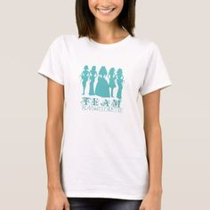 Team bachelorette teal t-shirt