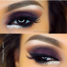 Deep Purple Eye Makeup