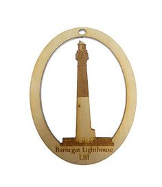 BARNEGAT LIGHTHOUSE Ornament - Old Barney Ornament - Long Beach Island, New Jersey Lighthouse - Lighthouse Ornaments - Lighthouse Gift ** To view further, visit now : Handmade Gifts