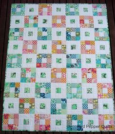 red pepper quilts' nine patch quilt from 2009. really like this pattern.